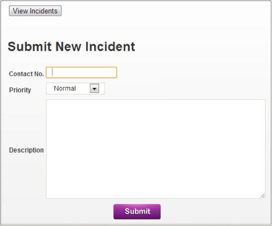 incident form