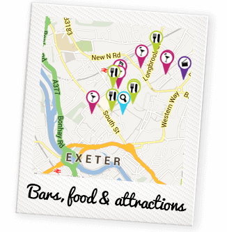 Exeter Polaroid Map