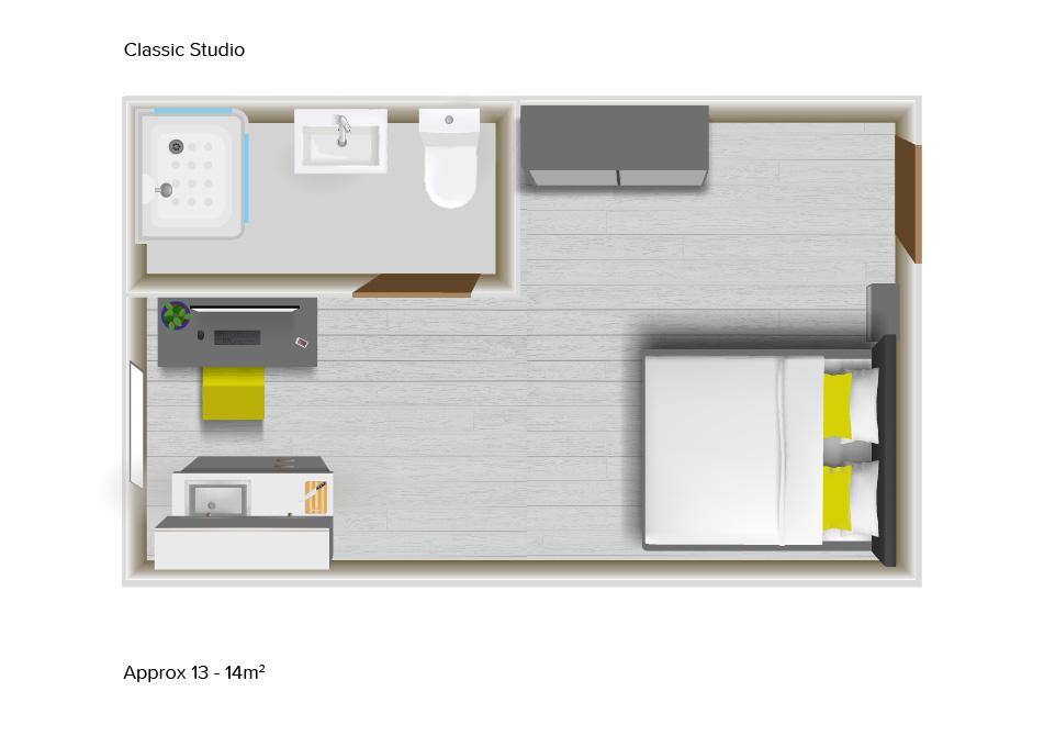 Classic Studio floorplans