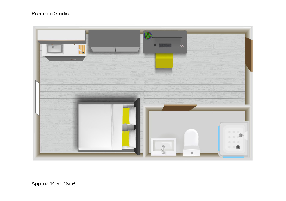 Premium Studio floorplans