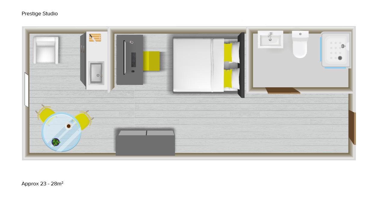 Prestige Studio floorplans