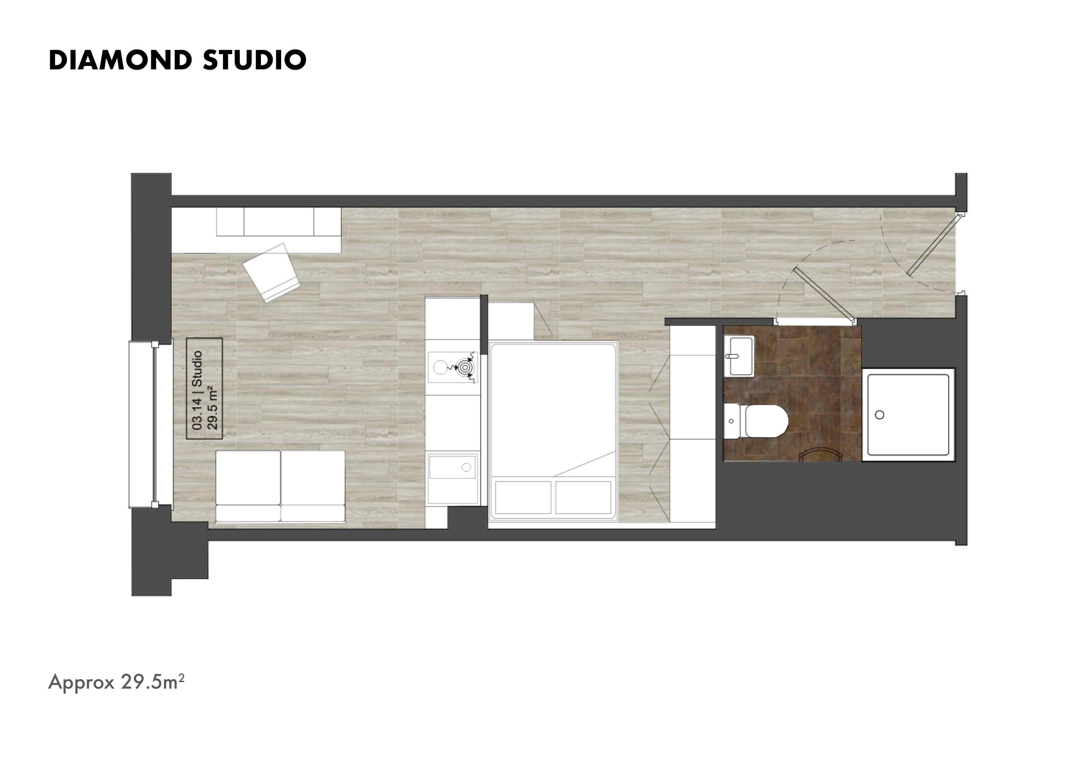 Diamond Studio floorplans