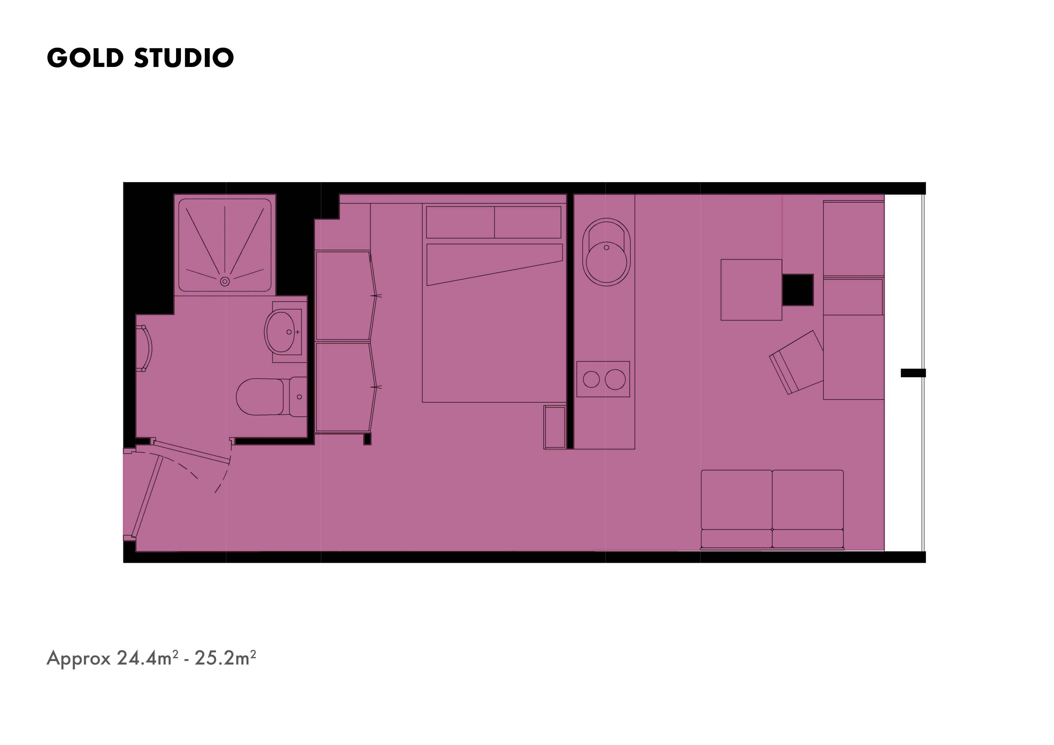 Gold Studio floorplans