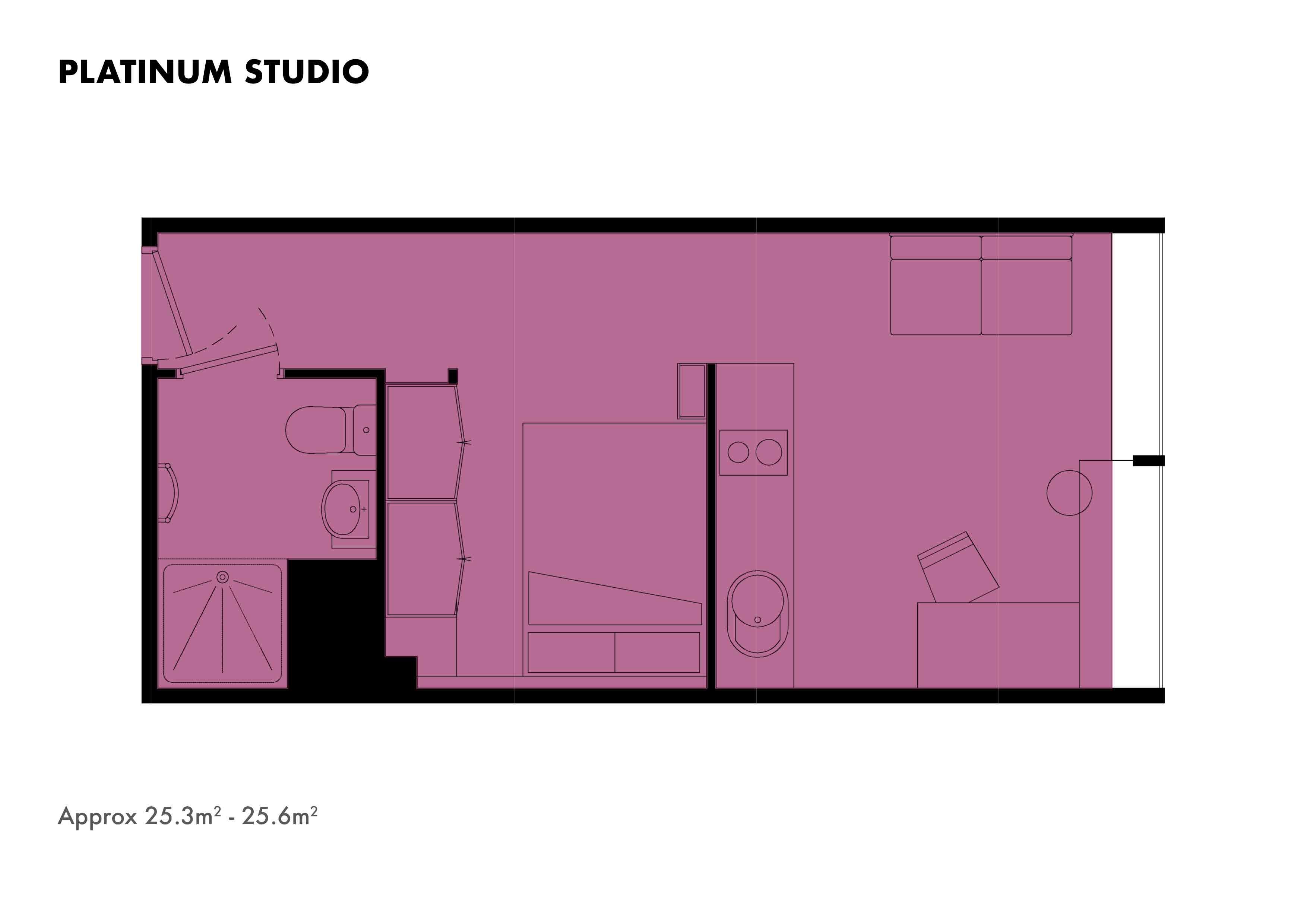 Platinum Studio floorplans