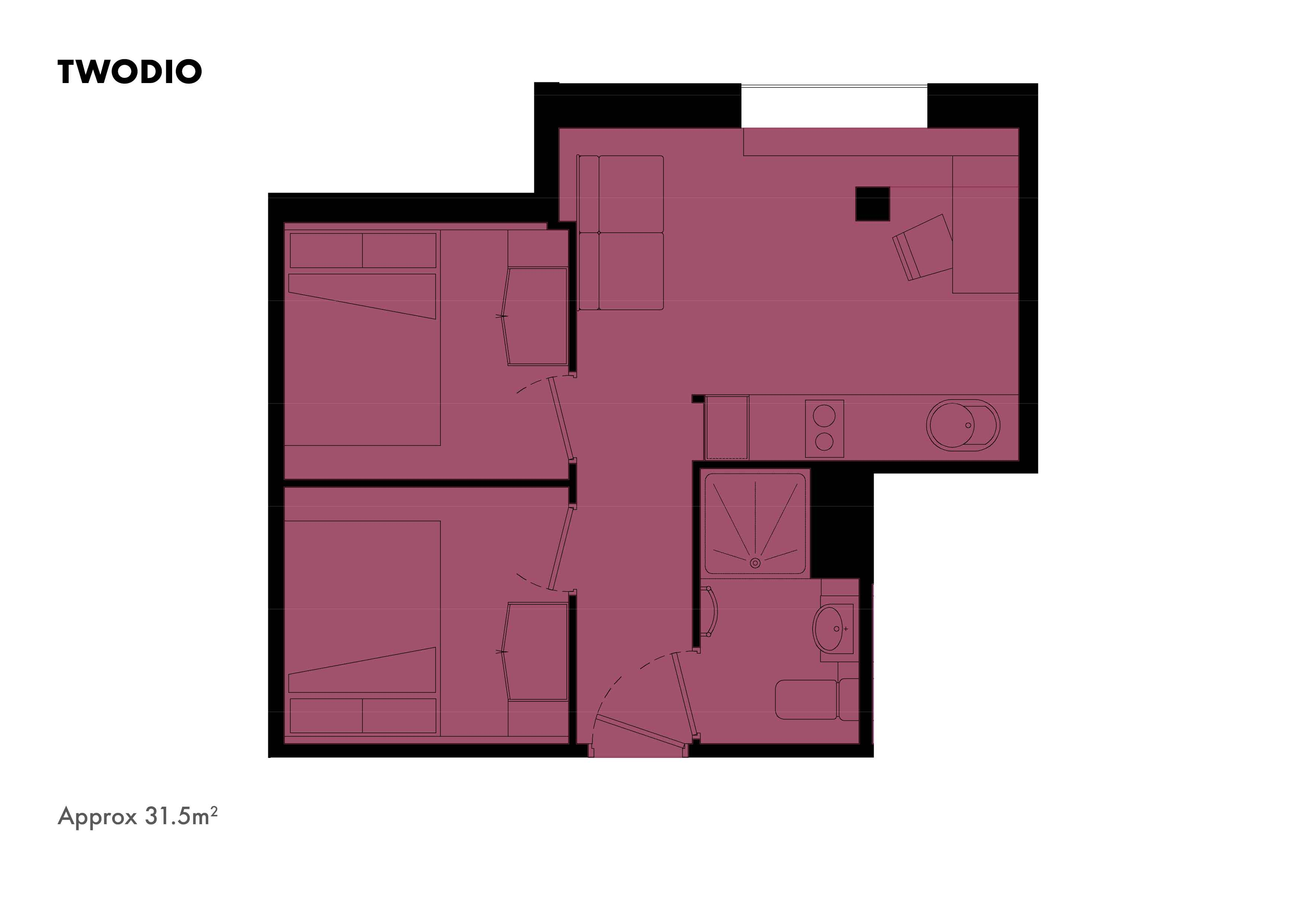 Twodio floorplans