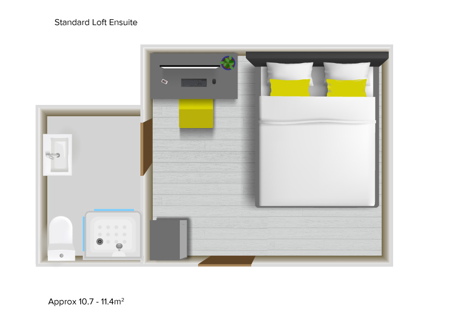Standard Loft Ensuite floorplans