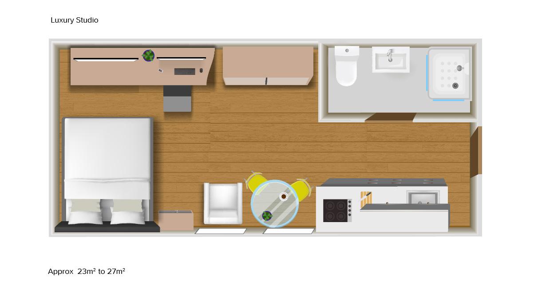 Luxury Studio floorplans